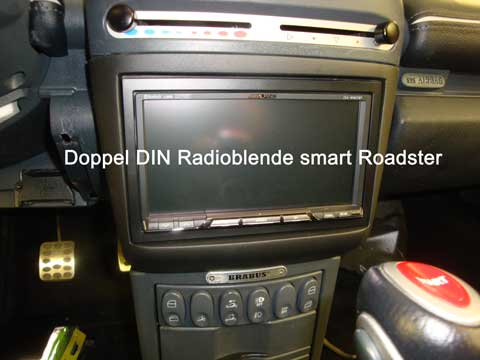 2 DIN Radioblende smart Roadster